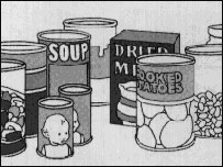 Illustration of tinned food
