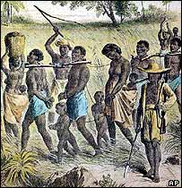 Ilustración histórica de esclavos