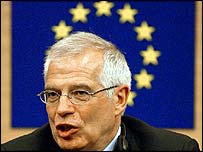 Josep Borrell, newly elected president of the European parliament