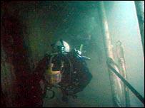 Divers on Scylla wreck