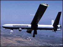 Thales Watchkeeper 450 pilotless reconnaissance vehicle (copyright Thales)