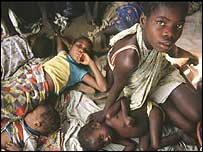 Children living in a slum in Angola