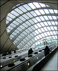 Canary Wharf Tube station, designed by Lord Foster
