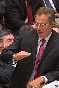 Tony Blair, primer ministro del Reino Unido.