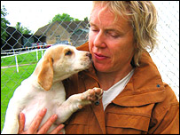 Tonya Wood and puppy, BBC