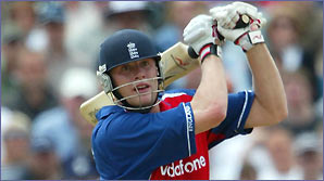 Freddie Flintoff in action for England
