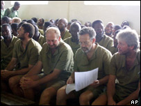 Group of arrested mercenaries in Zimbabwe military court