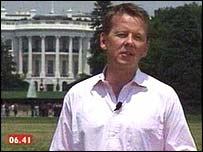 Bill Turnbull outside the Whitehouse