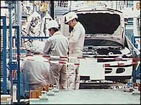 Mitsubishi factory production line