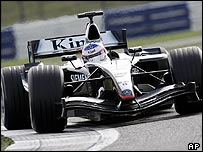 Kimi Raikkonen in the new McLaren MP4-19B