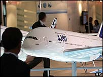 Model of the Airbus A380