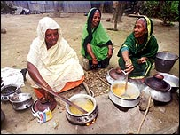 Indian women cooking