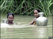 Flood victims in Bangladesh