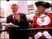 Richard Leese and the Lord Mayor of Manchester