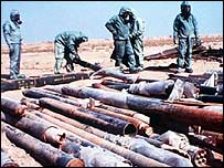 Rockets containing sarin set for destruction