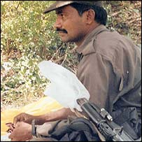Maoist rebel Shakamuri Appa Rao. Photo: Omer Farooq