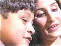 Zain Hashmi and his mother