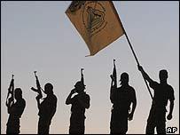 Militants from the al-Aqsa Martyrs' Brigade, linked to Yasser Arafat's Fatah movement
