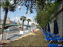 The Paris Beach along the river Seine
