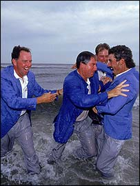 Americans celebrate their Kiawah Island victory