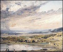 John Constable: Hampstead Heath, with Pond and Bathers, © English Heritage.