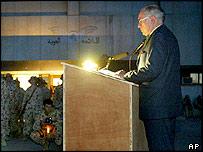 Australian PM John Howard in Iraq