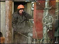 Yukos worker in Siberia