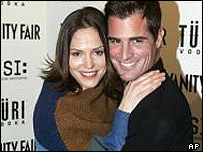 Jorja Fox and George Eads