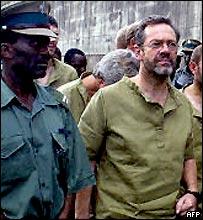 Simon Mann in prison in Harare