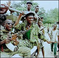 RUF rebels in Sierra Leone