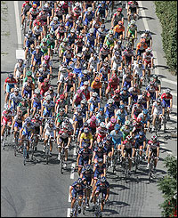 Armstrong settles near the front