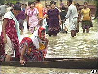 Flood victims in Assam