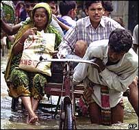 Rickshaw puller in Dhaka