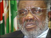 Namibia's Minister of Land Hifikepunye Pohamba