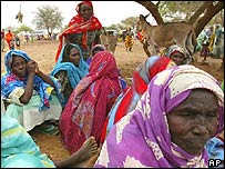 Refugee women in Darfur