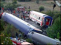 Derailed trains