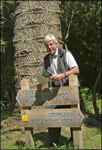 John Whitehead at the trail