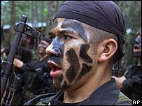 Miliciano de las Autodefensas Unidas de Colombia.