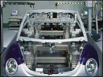 A Volkswagen automated production line
