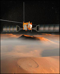 An artist's impression of Mars Express, Nasa