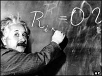 Former patent clerk Albert Einstein, AP