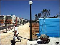 Стройка в олимпийской деревне