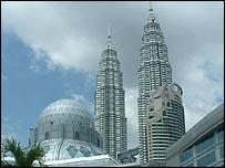 Kuala Lumpur's Petronas Twin Towers symbolise 1990s boom