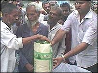 Rice aid in Munshiganj