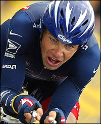 Lance Armstrong's team-mate Viatcheslav Ekimov 