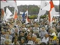 Opposition rally in Minsk on 21 July 2004