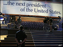 Preparations for the Democratic National Convention in Boston