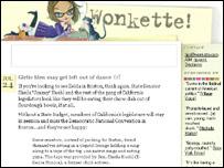 Wonkette weblog page