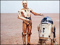 C3PO and R2D2 from Star Wars