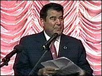 Saparmurat Niyazov (from Turkmen TV)